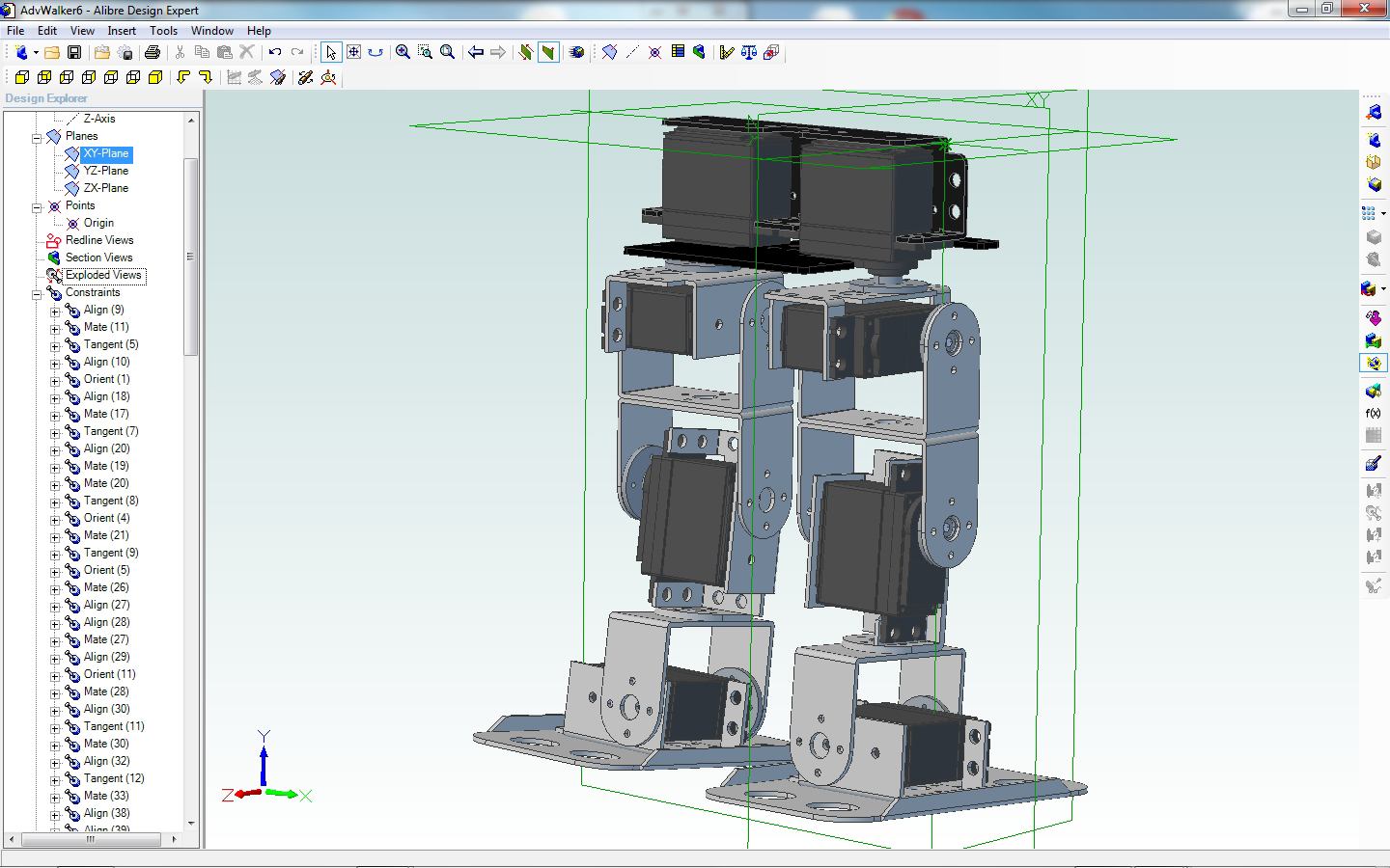 "Alibre Screen Shot of ""Stance"" Robot"